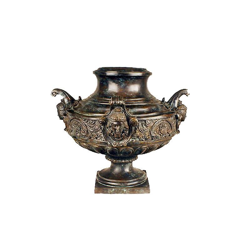 SRB85132 Bronze Arabian Lady Planter Urn Sculpture by Metropolitan Galleries Inc