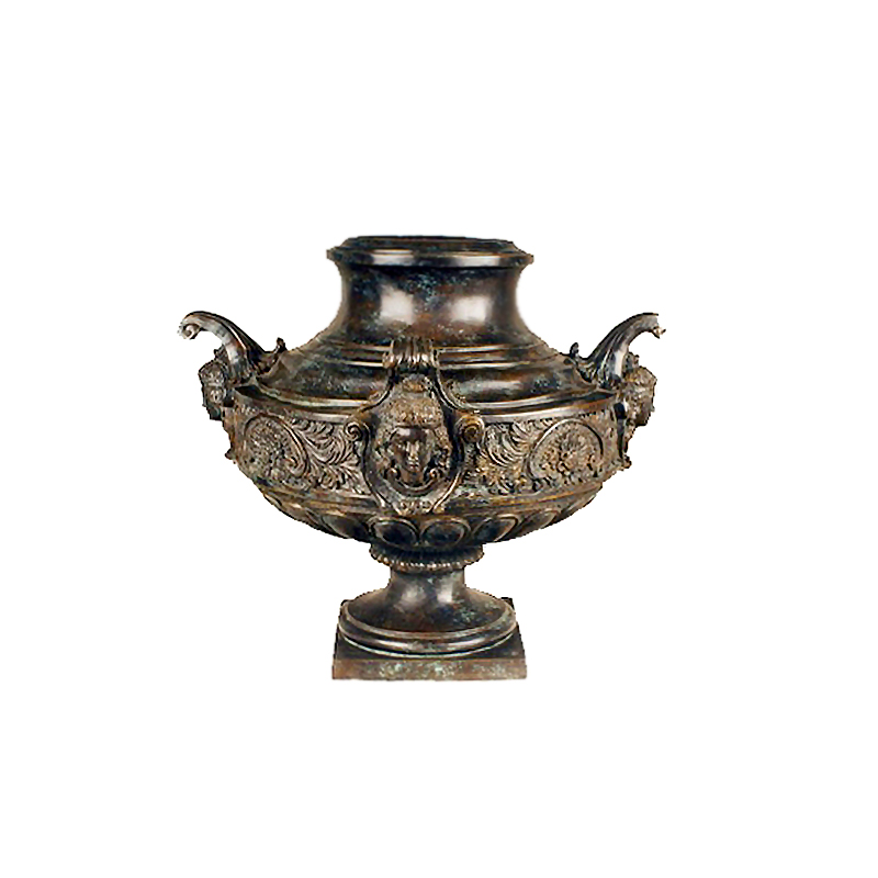 SRB85132 Bronze Arabian Lady Planter Urn Sculpture by Metropolitan Galleries Inc