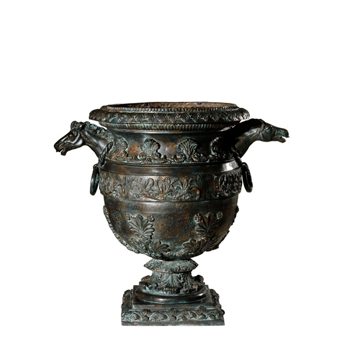 SRB85135 Bronze Horse Head Urn Metropolitan Galleries Inc.