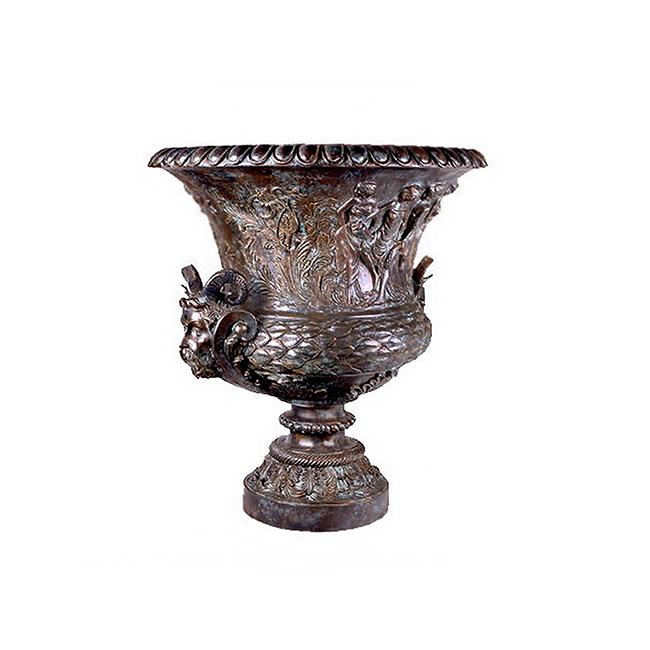 SRB85140 Bronze Mythological Planter Urn by Metropolitan Galleries Inc