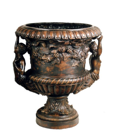 SRB85142 Bronze Flower Urn Metropolitan Galleries Inc.