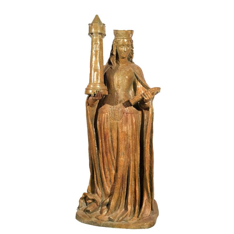 SRB95005 Bronze Chess Queen Sculpture Metropolitan Galleries Inc.