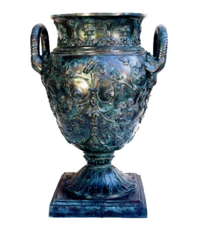 Bronze Floral Vessel with Handles Metropolitan Galleries Inc.