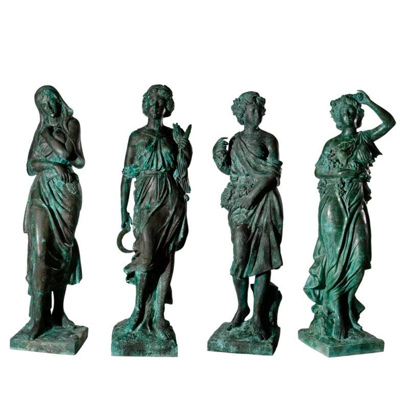 SRB97012-15 Bronze Lady Four Seasons Sculpture Set Metropolitan Galleries Inc.