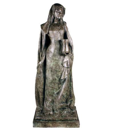 SRB97021 Bronze Female Columnar Sculpture Metropolitan Galleries Inc.
