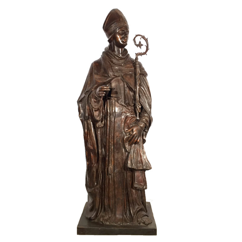 SRB97039 Bronze Saint Louis of Toulouse Sculpture Metropolitan Galleries Inc.