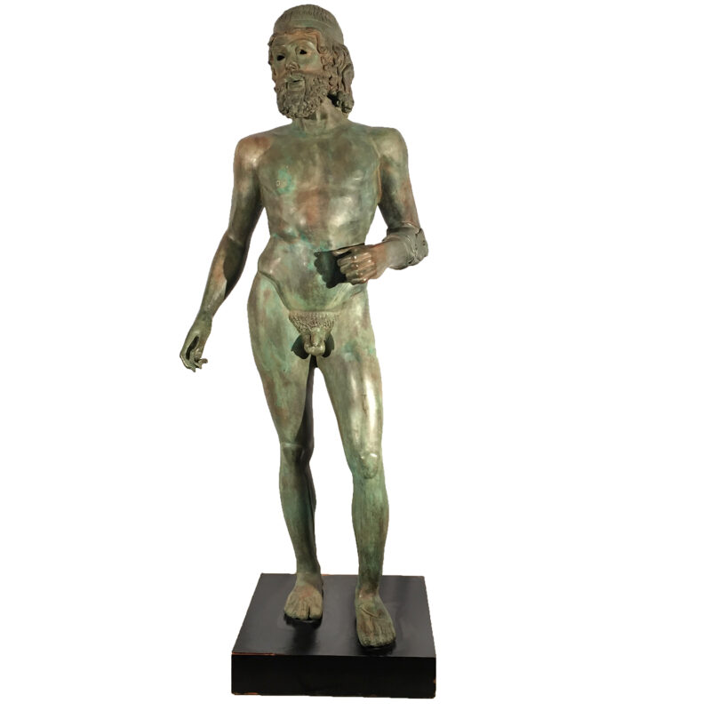 SRB990766 Bronze Nude Greek Male Sculpture Metropolitan Galleries Inc.