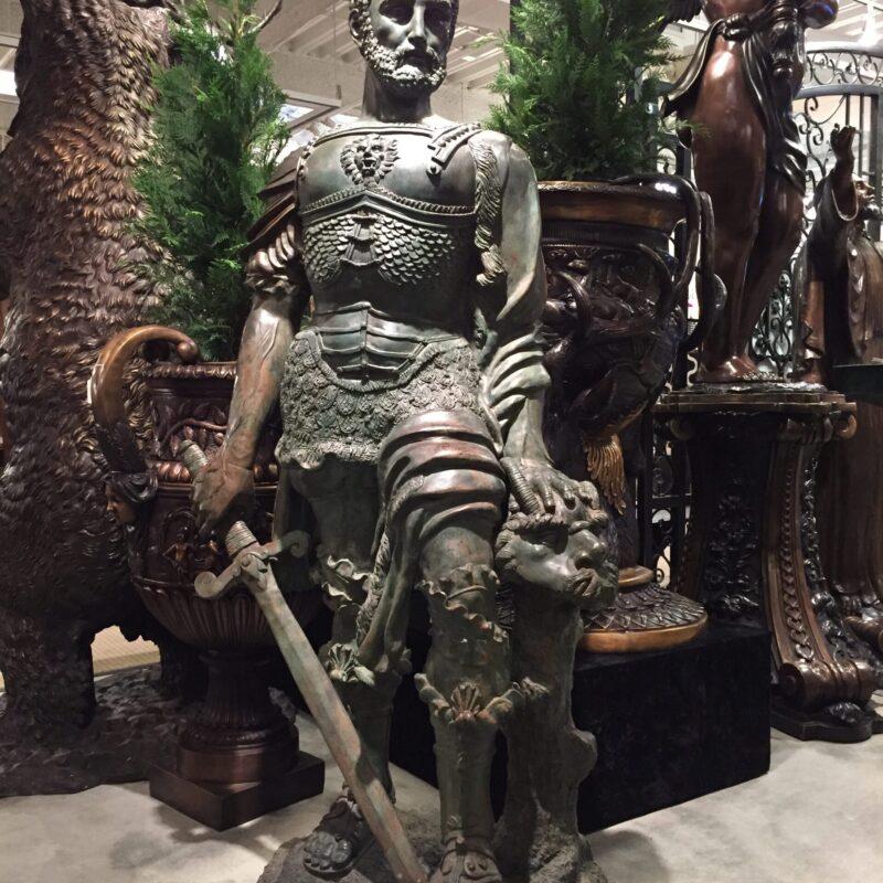 SRB991253 Bronze Gian Giacomo De Medici Statue Metropolitan Galleries Inc.