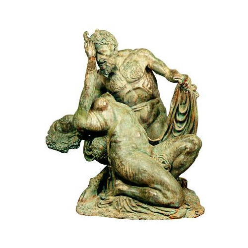 SRB991341 Bronze Satyr & Bacchante Sculpture Metropolitan Galleries Inc.