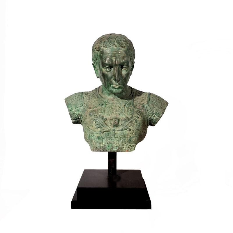 Cast Bronze Caesar Sculpture Metropolitan Galleries Inc. Furniture Bronze