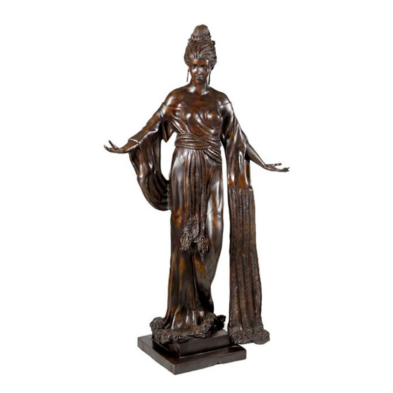 SRB991942 Bronze 1940's Art Deco Lady Sculpture by Metropolitan Galleries Inc