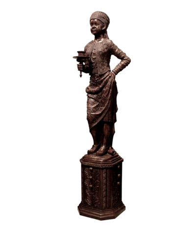 SRB992050 Bronze Blackamoor Torchere Sculpture Metropolitan Galleries Inc.