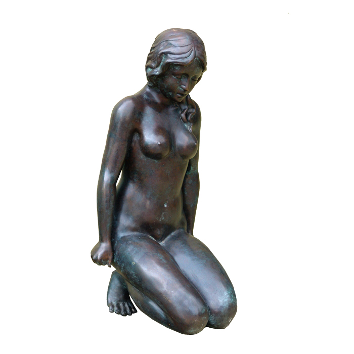 Bronze Sitting Nude Lady Sculpture Metropolitan Galleries Inc.