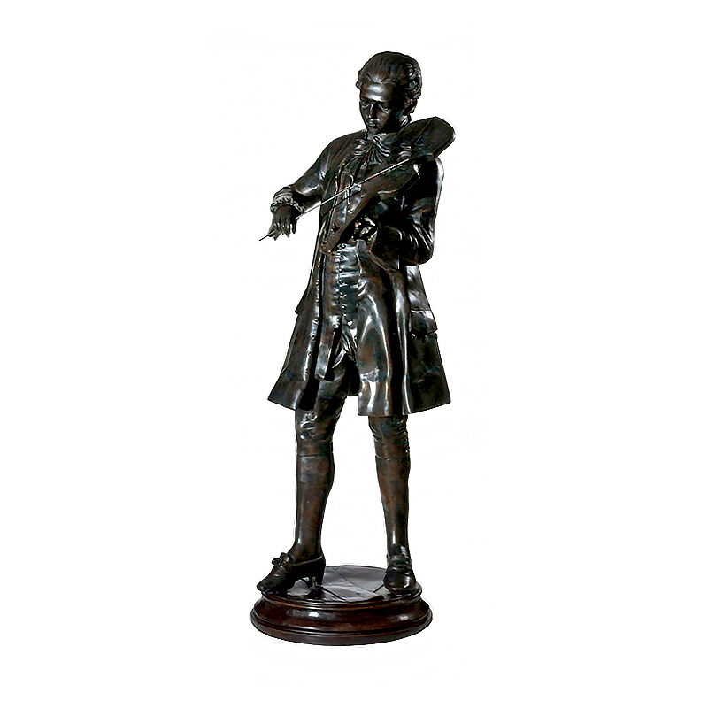 SRB992469 Bronze Male Violinist Sculpture by Metropolitan Galleries Inc