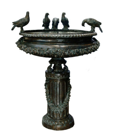 SRB992530 Bronze Classical Birdbath Fountain Sculpture Metropolitan Galleries Inc.