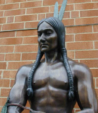 SRBRP001 Bronze Standing Indian Sculpture Metropolitan Galleries Inc.