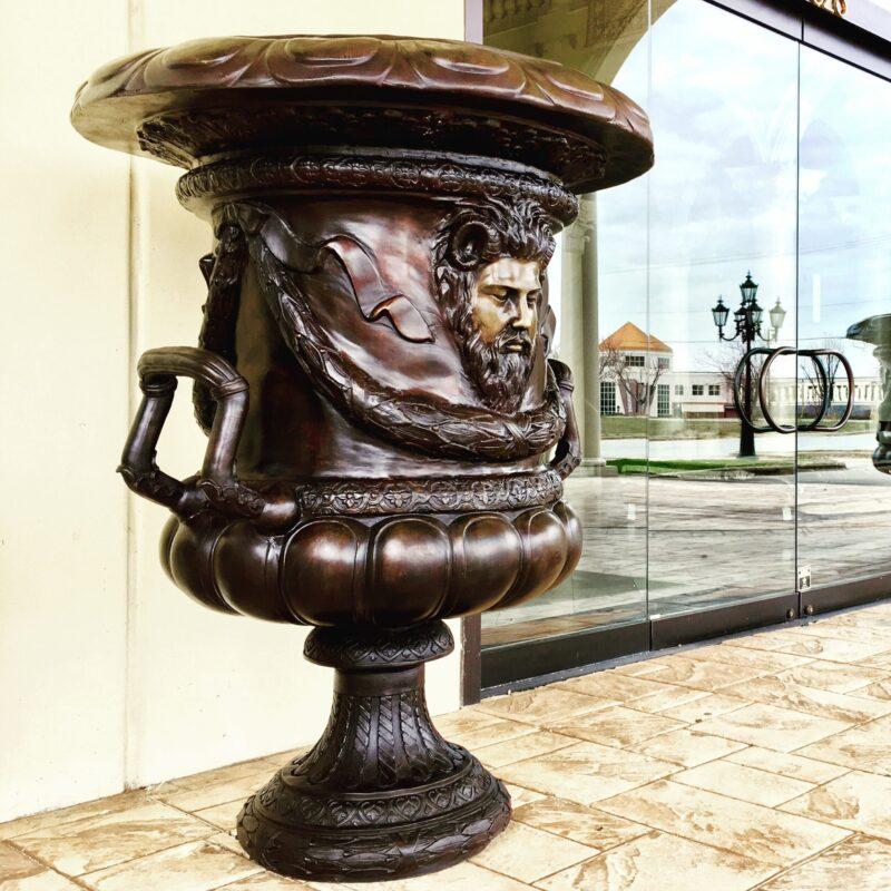 Bronze Sun King Urn Very Large Metropolitan Galleries Inc. Furniture Trade