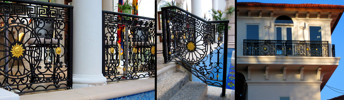 Custom Wrought Iron Assemblies Residential Project