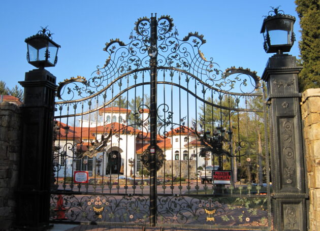 Iron Railings & Driveway Gate