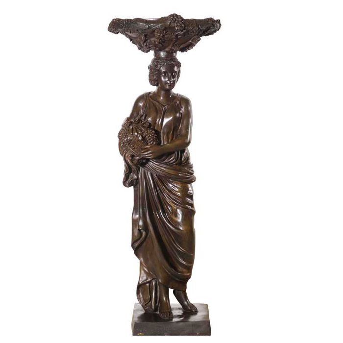 SRB81565 Bronze L'Hiver-Modern Caryatid Sculpture Metropolitan Galleries Inc.