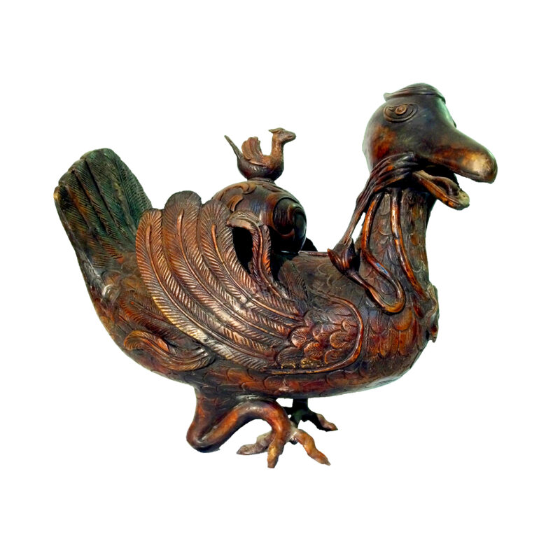 SRB81870 Bronze Kirin Duck Sculpture (Right) Metropolitan Galleries Inc.