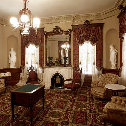 Marble Sculptures of the Leland Stanford Mansion in Sacramento California produced by Metropolitan Galleries Inc