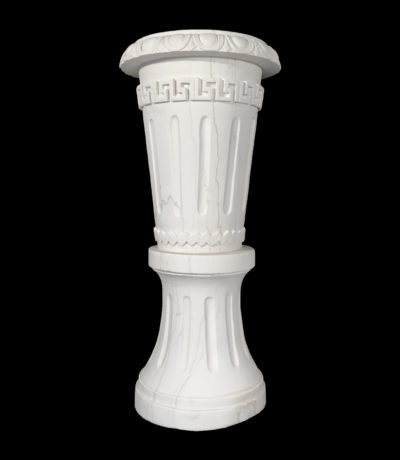 Hearst Castle Collection Marble Urn on Pedestal Metropolitan Galleries Inc.