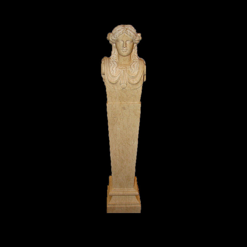 HCC400 Marble Hearst Castle Herm Pedestal Sculpture by Metropolitan Galleries Inc