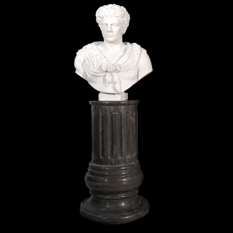 Marble Morgan Greco Bust Sculpture Metropolitan Galleries Inc.