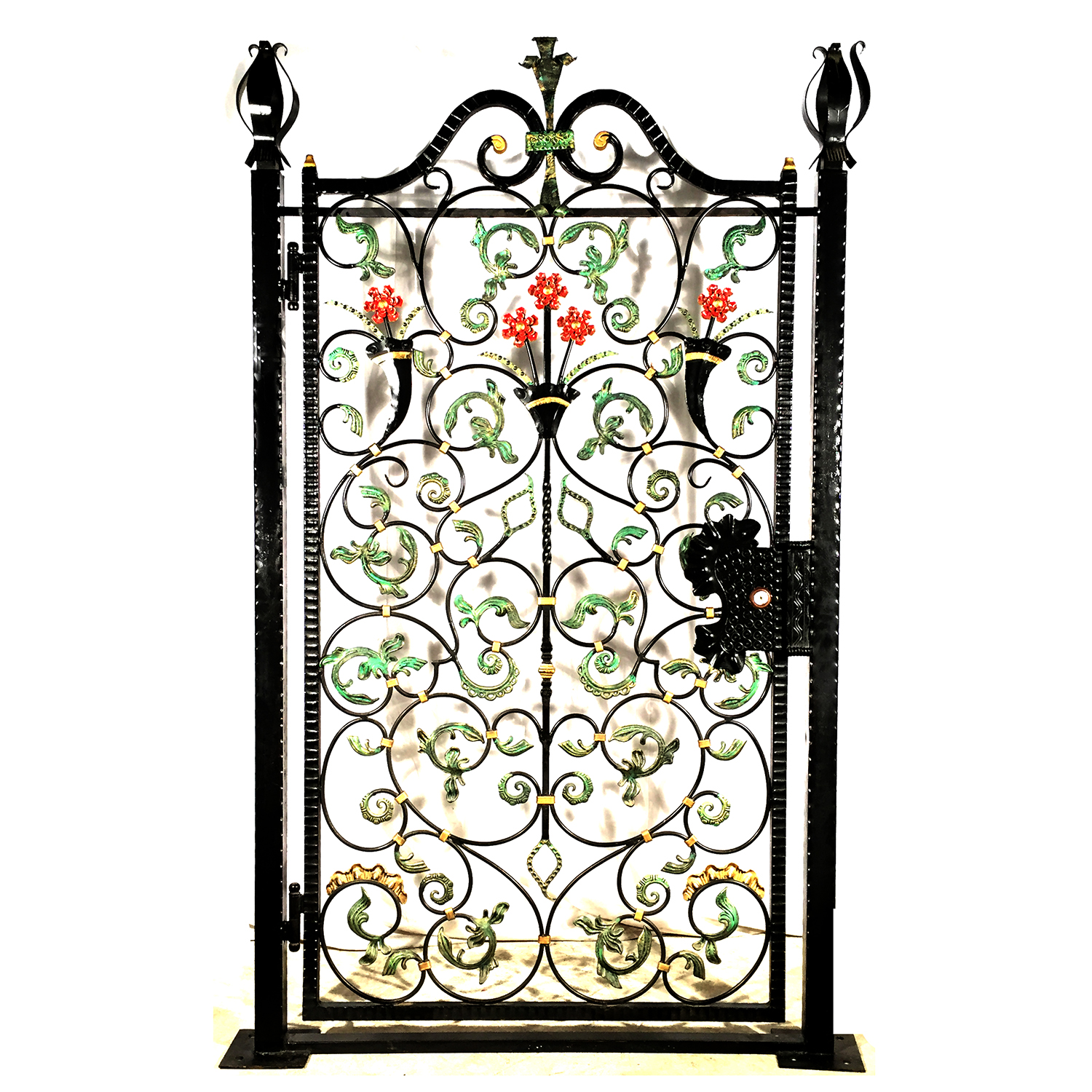 Iron umbria gate metropolitan galleries inc for Single gate designs for homes