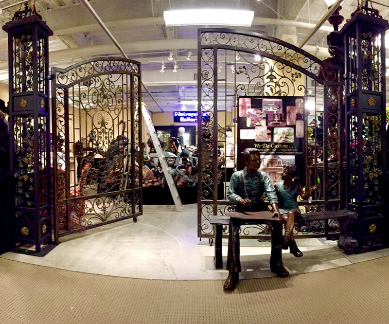 ING600 Iron Double Gate Lanterns & Archway Metropolitan Galleries Inc.