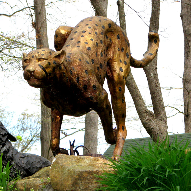 SRB10075-R Bronze Running CHeetah Sculpture by Metropolitan Galleries Inc