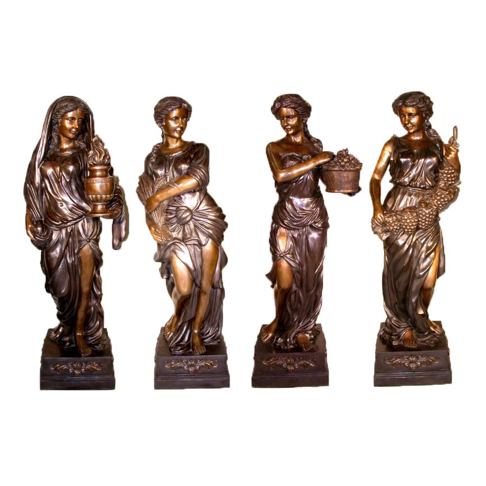 Bronze Four Seasons Sculpture Set Metropolitan Galleries
