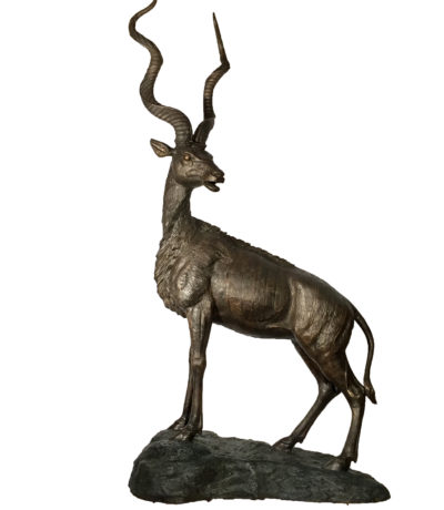 SRB30348 Bronze Large Springbok Sculpture Metropolitan Galleries Inc.
