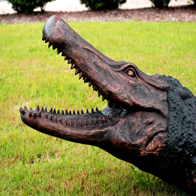 Bronze Aligator Fountain Sculpture Metropolitan Galleries Inc.
