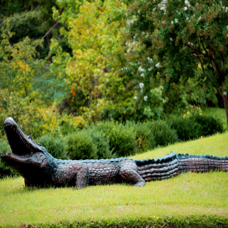 Bronze Aligator Fountain Sculpture Metropolitan Galleries Inc.