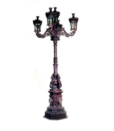 INL250 Iron Five Lamp Street Light Metropolitan Galleries Inc.