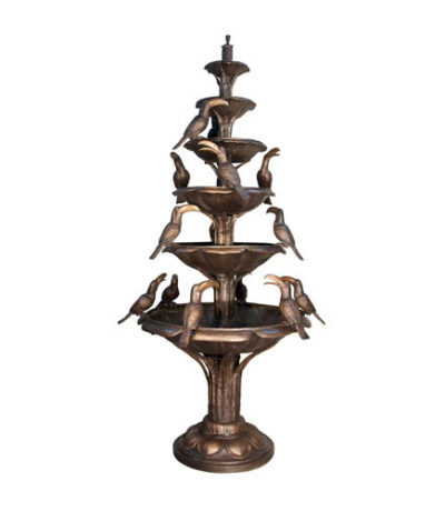 SRB057871-TT Bronze Tier Fountain with Birds Metropolitan Galleries Inc.
