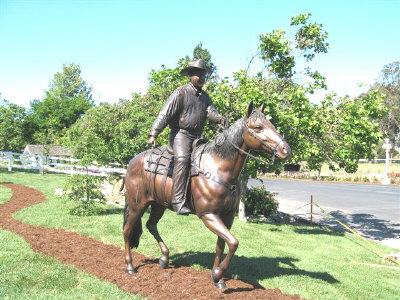 Mr Alex Madonna on Horse Bronze Sculpture