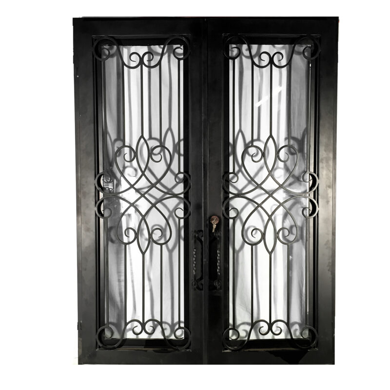 IND025 Iron Double Door with Contemporary Design Metropolitan Galleries Inc.