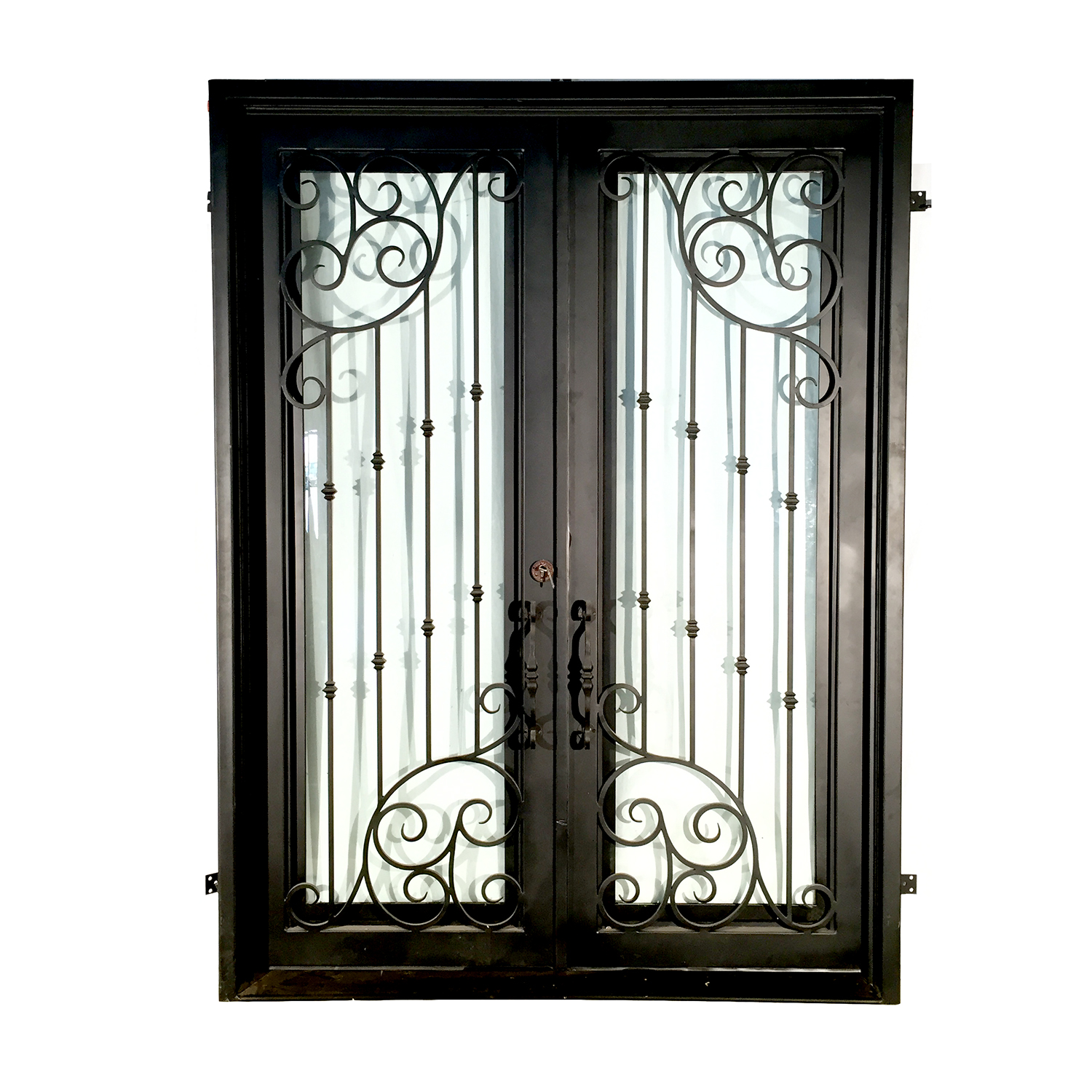 Iron Double Door With Ornate Design Metropolitan