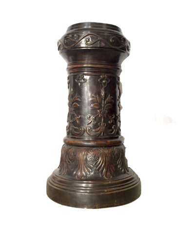 SRB992411 Cast Bronze Floral Pedestal Sculpture Metropolitan Galleries Bronze Sculpture and Fountain Wholesale
