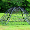 Wrought Iron Domed Gazebo with Decorative Dome Overhead