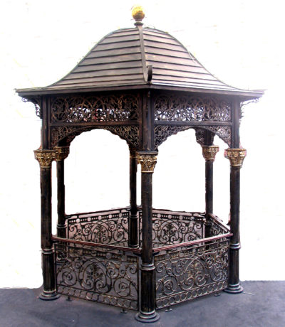 INZ300 Iron Gazebo with Textured Dome Metropolitan Galleries Inc.