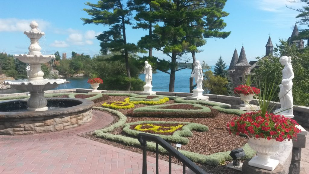 metropolitan galleries boldt castle hand carved marble fountain and lady four seasons statues