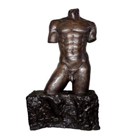 Bronze Male Torso Sculpture Metropolitan Galleries SRB055670