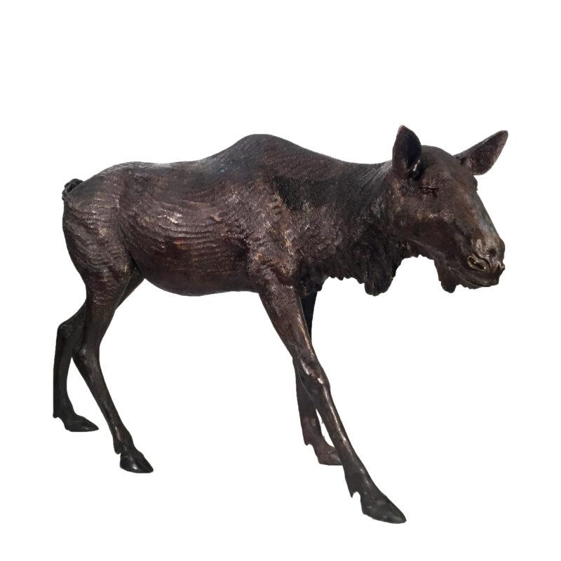 Bronze Moose Sculpture Metropolitan Galleries Inc. Trade SRB10053