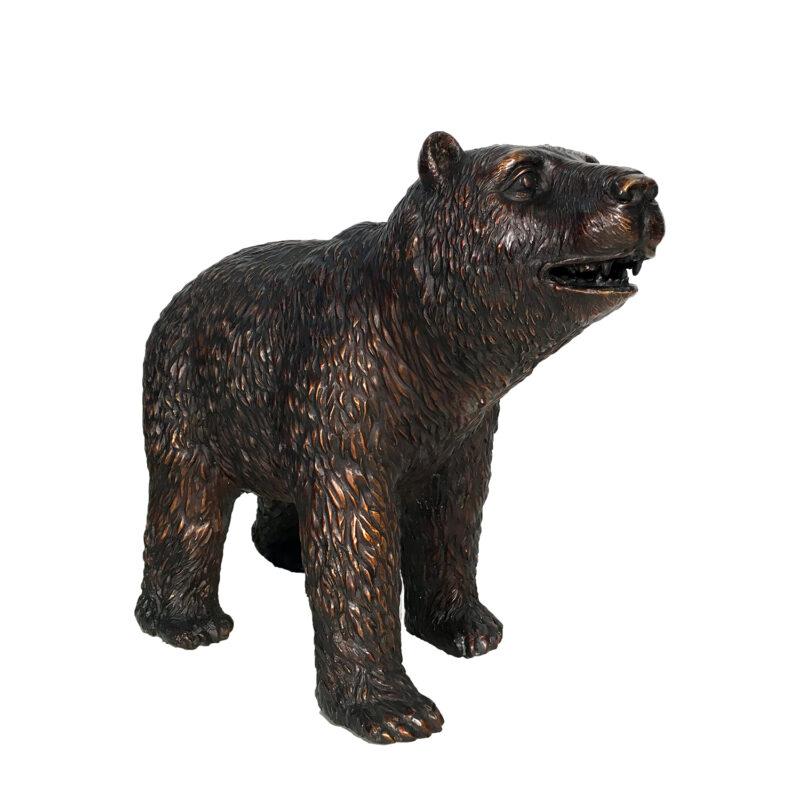 Bronze Small Standing Bear Sculpture Metropolitan Galleries Inc.