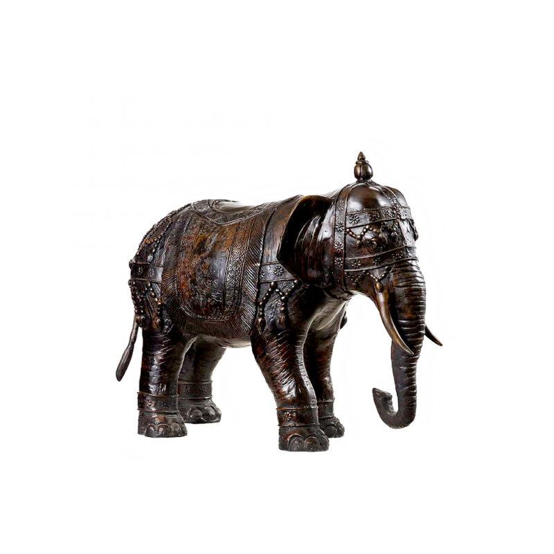 SRB54163 Bronze Indian Festival Elephant Sculpture by Metropolitan Galleries Inc