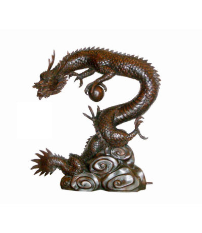 Bronze Japanese Dragon Sculpture Fountain Metropolitan Galleries Furniture Trade
